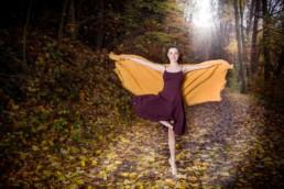 Foto Ballerina im Wald