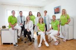 Teamfoto einer Arztpraxis