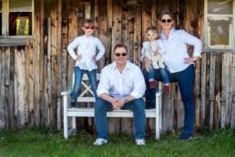 Foto coole Familie mit Sonnenbrille