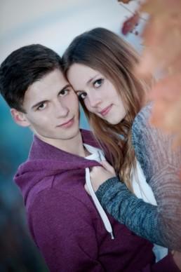 Foto junges verliebtes Paar,