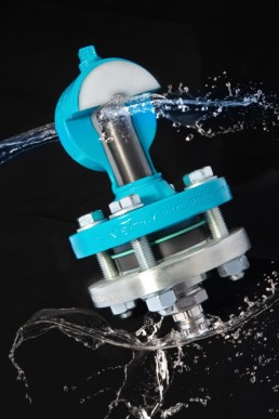 Produktfoto eines Werkstückes bearbeitet mit Wassereffekt