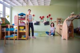 Martina Heuser und Monika Baumbusch in Kindergarten Birkenfeld - Fotoprojekt