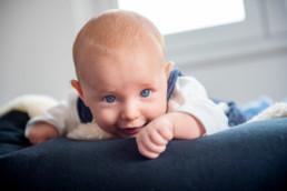 Foto Baby mit blauen Augen