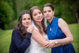 Foto Hochzeit Pforzheim Würm Altes Kurhotel Braut und Schwestern , Geschwister