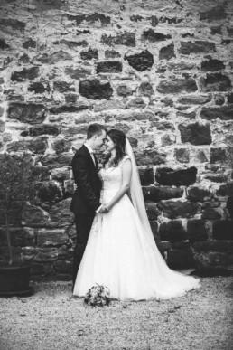Foto schwarz-weiss Brautpaar