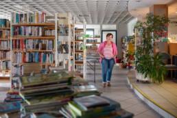 Petra Kunzmann Leiterin der Gemeindebibliothek in Birkenfeld - Fotoprojekt
