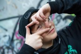 Fotograf Portrait Junge mit Mütze in Pforzheim